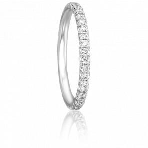Alliance Raymonda Or Blanc 18K et Diamants