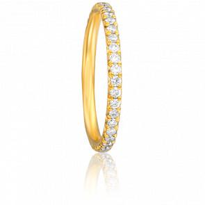 Alliance Raymonda Or Jaune 18K et Diamants