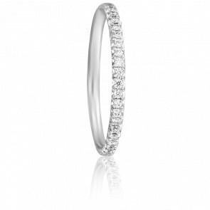 Alliance Rosaline Or Blanc 18K et Diamants