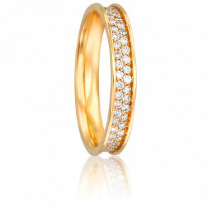 Alliance Rosemonde Or Jaune 18K et Diamants