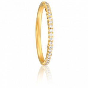 Alliance Coppélia Or Jaune 18K et Diamants