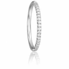 Alliance Coppélia Or Blanc 18K et Diamants