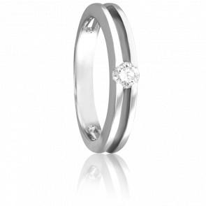 Bague Sidonia Or Blanc 18K et Diamant