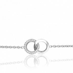 Bracelet Infini en Or Blanc 18K et Diamants