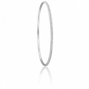 Bracelet Giselle 56 mm en Or Blanc 18K et Diamants
