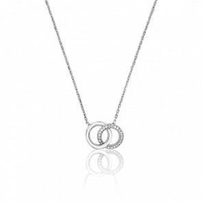 Collier Infini en Or Blanc 18K et Diamants