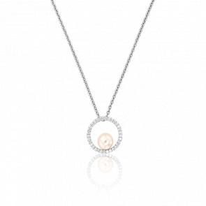 Collier O'Pearl en Or Blanc 18K, Diamants et Perle