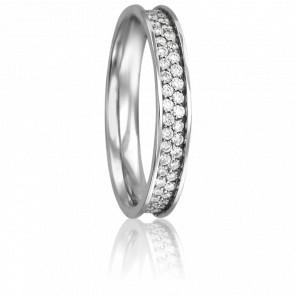 Alliance Rosemonde Or Blanc 18K et Diamants