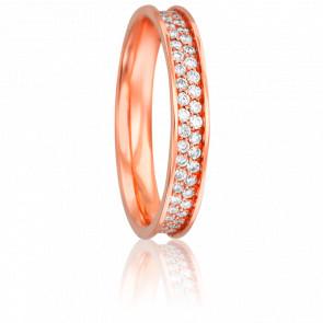 Alliance Rosemonde Or Rose 18K et Diamants