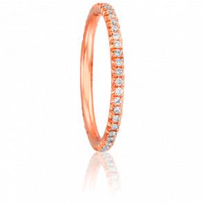 Alliance Paquita Or Rose 18K et Diamants