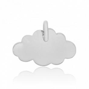 Pendentif Little Cloud Or Blanc 18K