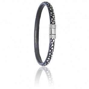 Bracelet 608 Galuchat Gris & Acier