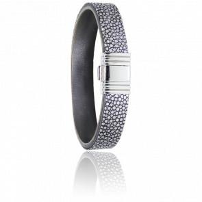 Bracelet 696 Galuchat Gris & Acier