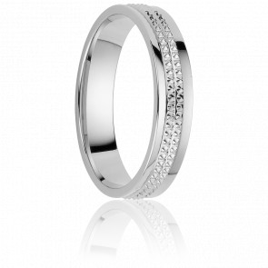Alliance Tikal 4,5 mm Or Blanc 18K