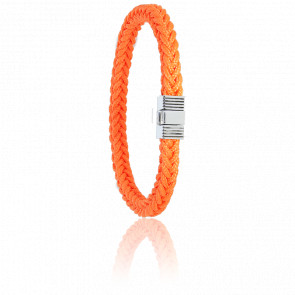 Bracelet 609 Cordon Marin Orange & Acier