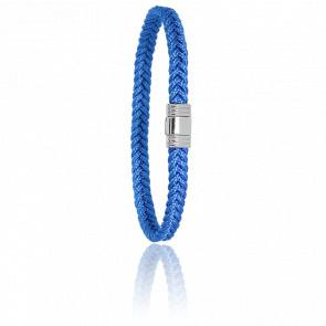 Bracelet 608 Cordon Marin Bleu & Acier