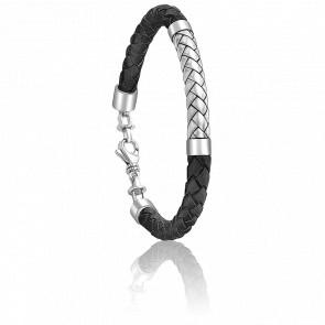 Bracelet Thomas Argent & Cuir