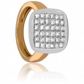 Bague plata diamanté