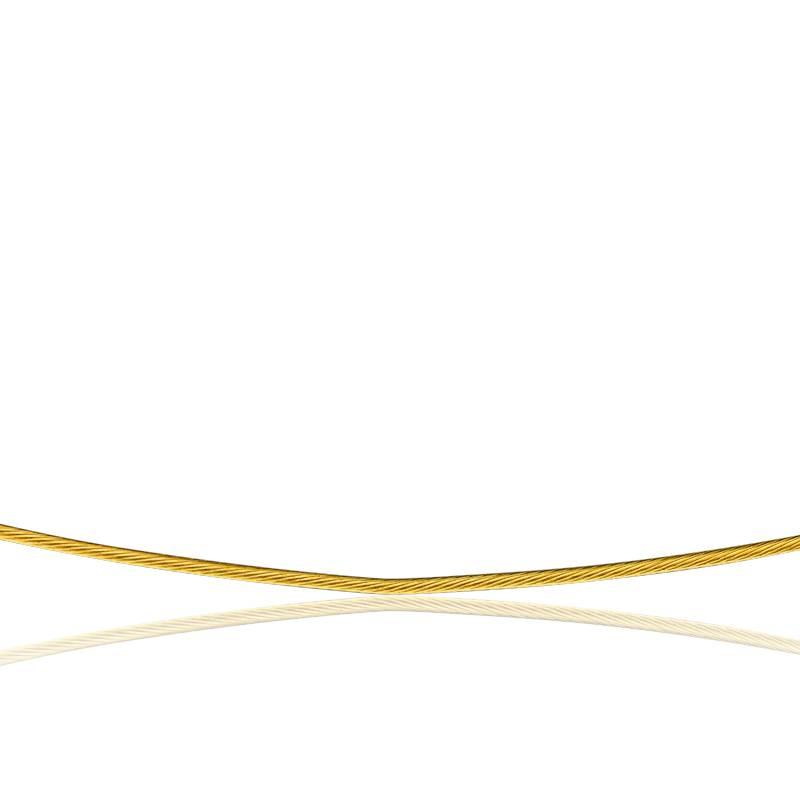 Collier Câble Cléophée, Or jaune 18K, longueur 45 cm