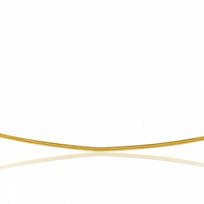 Collier Câble Cléophée, Or jaune 18k, longueur 55 cm