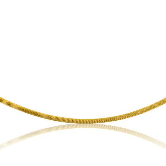 Collier Câble Tatiana, Or jaune 18K, longueur 42 cm