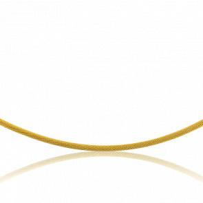 Collier Câble Tatiana, Or jaune 18K, longueur 55 cm