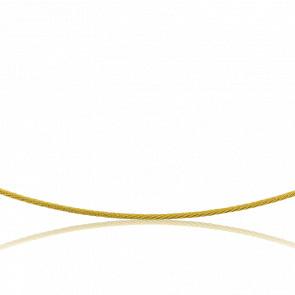 Collier Câble Héline, Or jaune 18K, longueur 42 cm