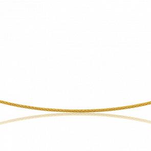 Collier Câble Varna, Or jaune 18K, longueur 45 cm