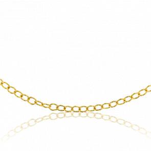 Chaîne Jaseron Ovale, Or Jaune 18K, longueur 50 cm