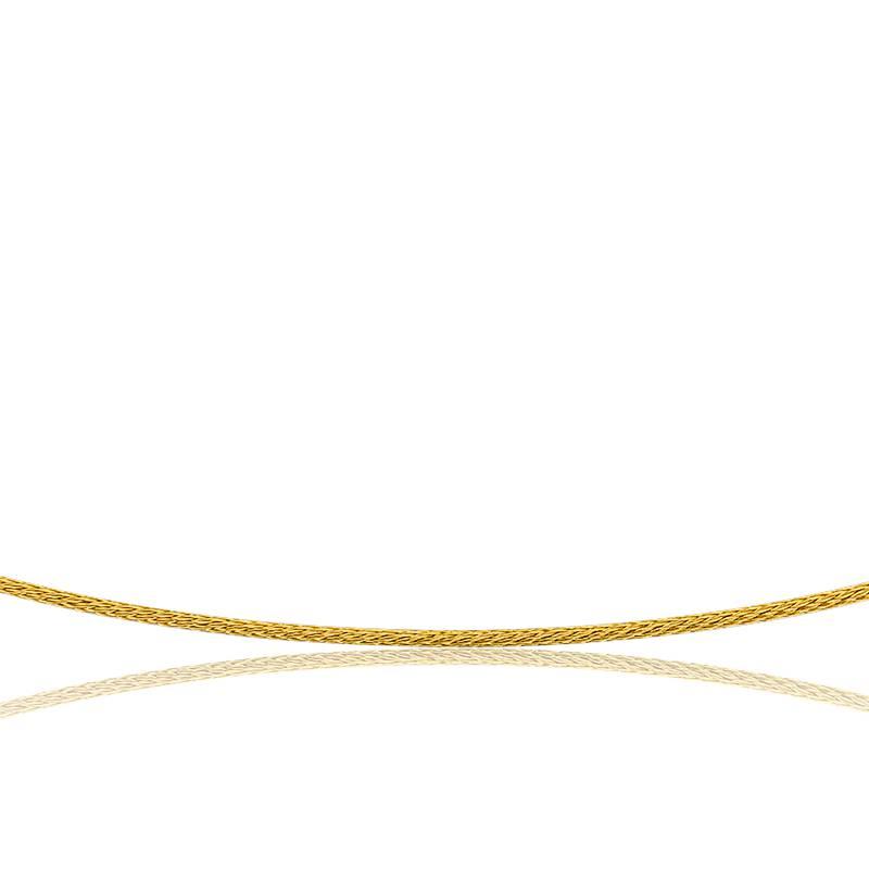 Collier Câble Varna, Or jaune 18K, longueur 42 cm