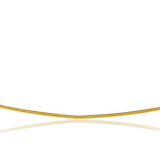 Collier Câble Cléophée, Or jaune 18k, longueur 42 cm