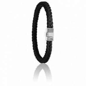 Bracelet 609 Cordon Marin Noir & Acier