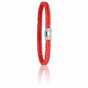 Bracelet 608 Cordon Marin Rouge & Acier