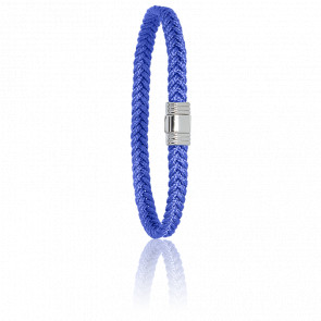 Bracelet 608 Cordon Marin Bleu Mer & Acier