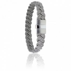 Bracelet 604 Cordon Marin Gris & Acier