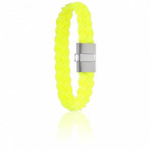 Bracelet 604 Cordon Marin Jaune & Acier