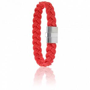 Bracelet 604 Cordon Marin Rouge & Acier