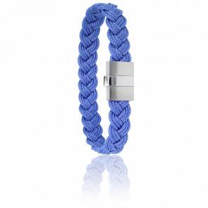 Bracelet 604 Cordon Marin Bleu & Acier