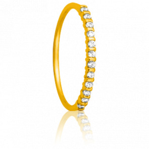 Alliance Inspiration or jaune 18K et diamants 0,12 ct