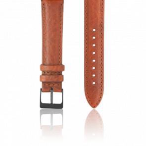 Bracelet Cuir Marron PVD Noir