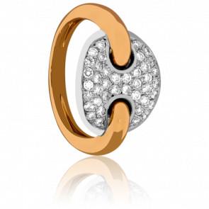 Bague emblème diamanté