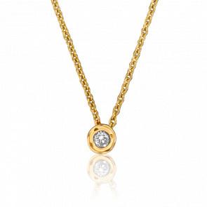Collier Bright Or Jaune & Diamant 0,18 ct PM