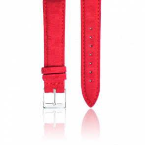 Bracelet Tissu Rouge Argent