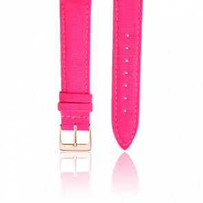 Bracelet Tissu Rose Fushia Or Rose