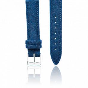 Bracelet Tweed Bleu Argent