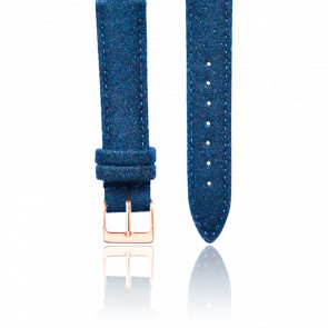 Bracelet Tweed Bleu Or Rose