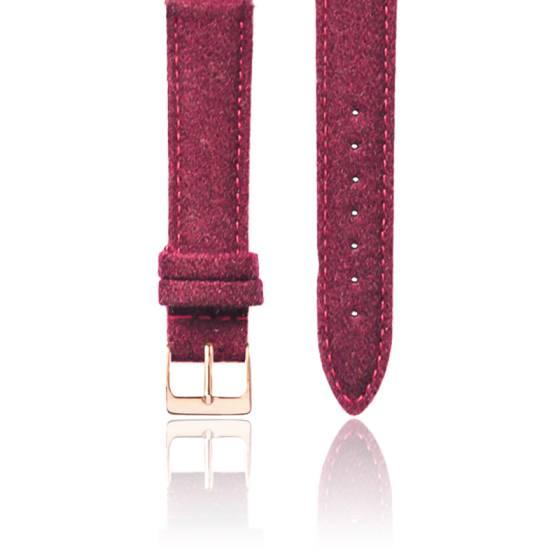 Bracelet Tweed Bordeaux Or Rose