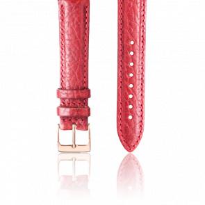 Bracelet Cuir Rouge Or Rose
