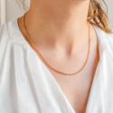 Chaîne Jaseron, Or Jaune 18K, longueur 55 cm