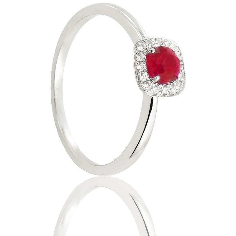 bague talinela or blanc rubis diamond lady ocarat. Black Bedroom Furniture Sets. Home Design Ideas